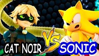 Cat Noir vs Super Sonic Slither.io batalha de cobrinha snake cobra gigante totoykids