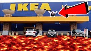 THE FLOOR IS LAVA CHALLENGE IN IKEA!! (FT. BEAU BROS)