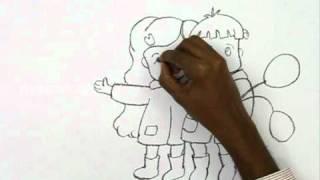 Смотреть онлайн Как нарисовать дружбу карандашом