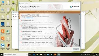 installation complete some products failed to install