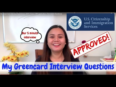 My Green Card Interview Experience 2020 | Form I-485 application | Permanent Residence