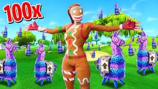 Can You FIND ALL 100 LLAMA'S In Fortnite Battle Royale?