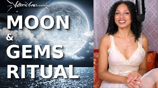 Youtube with Victoria Vives CRYSTALS MOON RITUAL for Women's Empowerment | DIVINE FEMININE sharing on Become Your Divine Self
