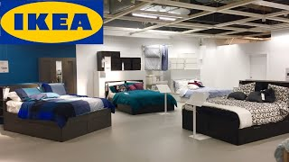 IKEA BEDS BEDROOM FURNITURE BED FRAMES DRESSERS HOME DECOR SHOP WITH ME SHOPPING STORE WALK THROUGH