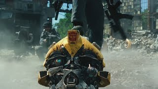 Gambar cover Transformers: The Last Knight (2017) - First battle scene - Only Action [4K]