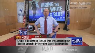 Jim Cramer: Companies that hire large numbers of veterans tend to have stocks that do well