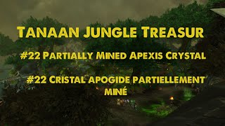 Partially Mined Apexis Crystal / Cristal apogide partiellement miné - Tanaan Jungle Treasur - WoW
