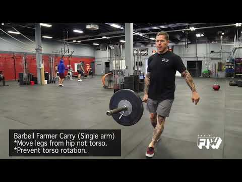 Barbell Farmer Carry (Single arm)
