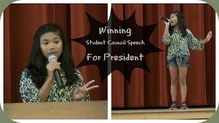 Winning Student Council Speech For President   Charisma Joy