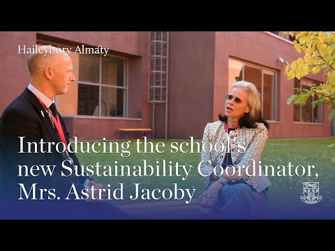 Introduction of Ms Astrid Jacoby, Sustainability Coordinator