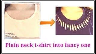 No sew DIY-Part 2|Convert old plain t-shirt into fancy top|AlwaysPrettyUseful by PriyaChavaan