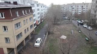 preview picture of video 'Снегопад 6 мая Темиртау, центральный Казахстан.'