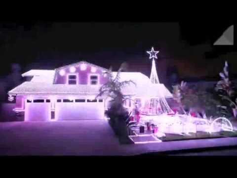 Weihnachtsbeleuchtung mit Musik