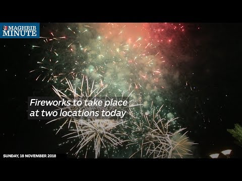 Fireworks to take place at two locations today