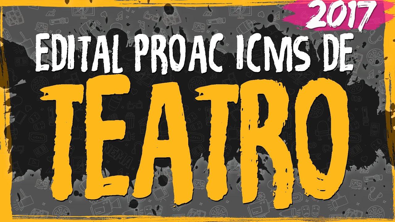 Edital ProAC 2017 de Teatro