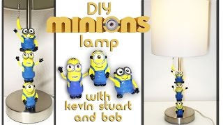 How to make a Kevin Stuart Bob Minion Banana Toy Lamp Polymer Clay from Minions 2 Despicable Me 2