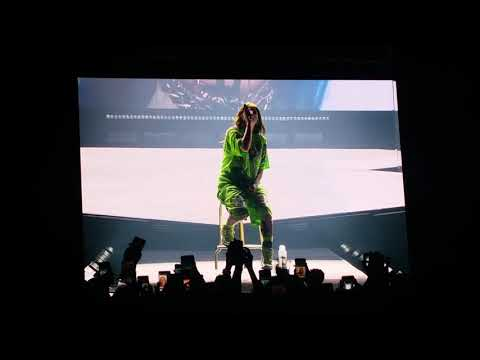 Billie Eilish  ( when the party's over) concert Prague 2019