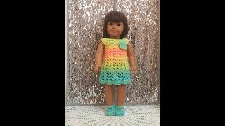 AG - Easy Crochet American Girl Dress Tutorial