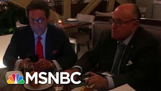 See Photos Of Indicted Giuliani Associate Celebrating With Trump Lawyer   MSNBC