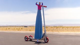 Oliver Tree Crashes The World's Biggest Scooter