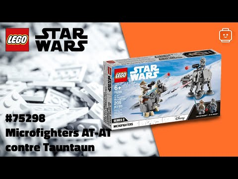 Vidéo LEGO Star Wars 75298 : Microfighters AT-AT contre Tauntaun