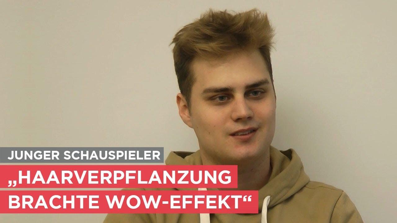 Junger Schauspieler mit Haarverpflanzung - das Interview.