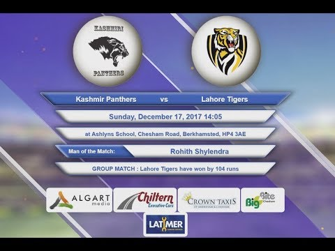 Video Kashmir Panthers VS Lahore Tigers - 17-Dec-2017