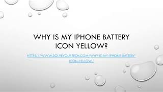Why Is My iPhone Battery Icon Yellow?