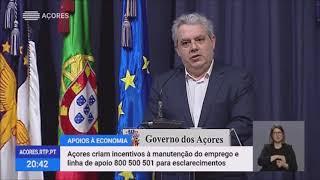 Açores criam incentivos à manutenção do emprego em fase de surto do Covid-19