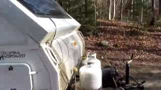 Solar  on a Popup Aframe RV in the Northeast in Fall - ADK