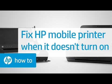 Fixing Your HP Mobile Printer When It Does Not Power on or Respond | HP Printers | HP