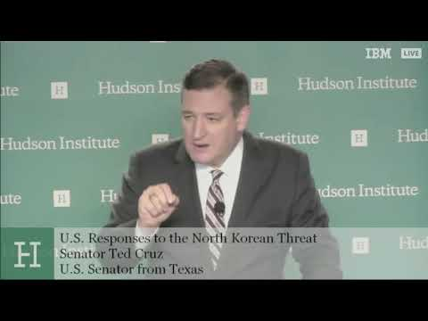 Sen. Cruz Addresses the Hudson Institute on North Korea - January 24, 2018