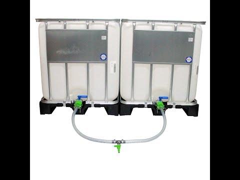 IBC Tanks / Wassertanks / Regentonne verbinden Anleitung *NEU* mit Tankverbinder Set DN25 und DN40