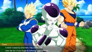 Dragon Ball FighterZ - Goku Asks Vegeta If He Posed like Ginyu in Frieza Army