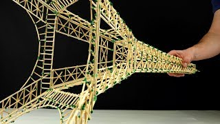 Making The Eiffel Tower From Matches