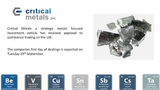 Russell Fryer, CEO of Critical Metals (CRTM.L) Prospectus