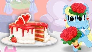 Обновление.День Святого Валентина у карманной пони в доме.  Мультик игра для детей