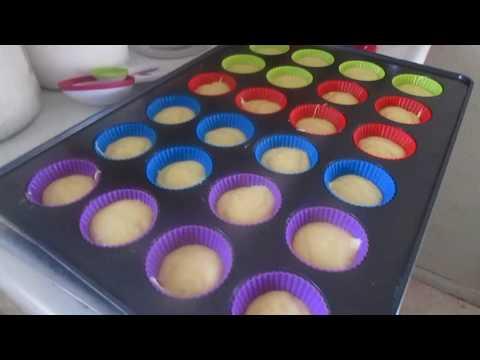 Usando Moldes de Silicona para cupcakes Por primera ves