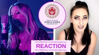 REACTION: 'RIGHT WHERE I'M SUPPOSED TO BE' (VARIOUS ARTISTS) (SPECIAL OLYMPICS SONG 2019) | ElizaCat