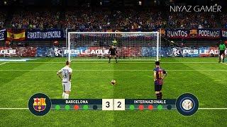 FC BARCELONA vs INTER | Penalty Shootout | MESSI vs ICARDI | PES 2019 Gameplay PC
