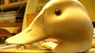 Decoy Carving Decoy Head Power Carving Part 1