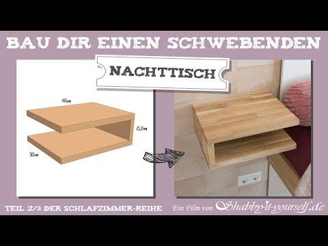 Schwebenden Nachttisch selber bauen ★ DIY Schlafzimmer-Projekt TEIL 2