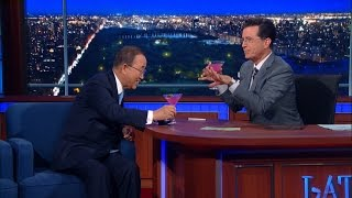 Stephen Tries To Get Ban Ki-Moon To Dish About Crazy Leaders