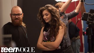 Lorde, Lorde's Exclusive Interview and Behind the Scenes of Her May Cover Shoot --Teen Vogue's The Cover