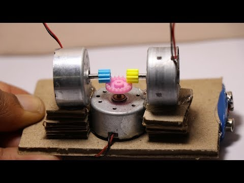 How To Make Mini Electric Generator Using DC Motors | DIY Mini Generator