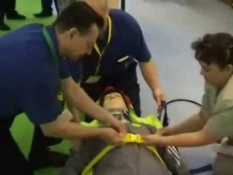 mannequin-man performming as a CPR Dummy: Video clip of mannequin-man as Ambu-man being used in a vacuum splint stretcher by med tech  (www.medtechsweden.com) Ambex Harrogate International Centre for SP Sevices Ltd on 01/07/2005