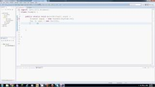 Java Tutorial - 20 - An Array of Objects
