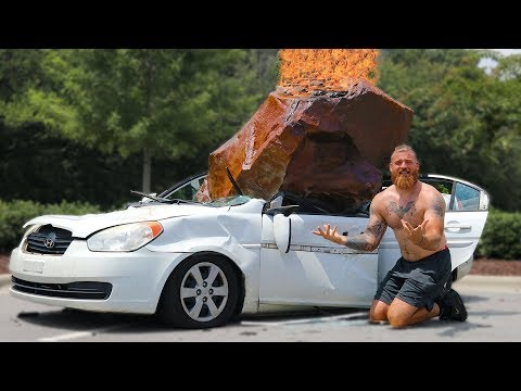 Destroying My Friend's Car And Surprising Him With A New One