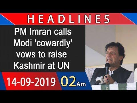 Headlines | 2 AM | 14 September 2019 | 92NewsHDUK