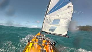 preview picture of video '2014 09 24  kayak sous voile Noumea'